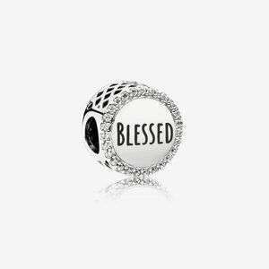 Pandora Blessed Charm, Clear CZ